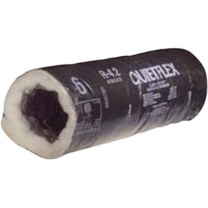 UV-Inhibited Black Jacket Flex Duct                                             - Polyethylene vapor barrier                                                    - Galvanized metal                                                                core reinforcing                                                              - Oversized core to fit on                                                        collars and register boxes                                                    - ETL Listed                                                                      R-4.2 UV-Inhibited Black Jacket Flex Duct