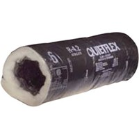 UV-Inhibited Black Jacket Flex Duct                                             - Polyethylene vapor barrier                                                    - Galvanized metal                                                                core reinforcing                                                              - Oversized core to fit on                                                        collars and register boxes                                                    - ETL Listed                                                                      R-8.0 UV-Inhibited Black Jacket Flex Duct