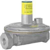 "325 Series Pressure Regulators                                                  - For use in residential, commercial and industrial applications                - Multi-poise mounting (upright only with vent limiter installed)               - High leverage valve linkage assembly to deliver positive dead-end lock-up     - Precise regulating control from full flow down to pilot flow                  - Gasses: natural, manufactured, mixed, liquefied, petroleum and liquid propane gas-air mixtures                                                                - Corrosion-resistant aluminum construction                                     - CE Certified                                                                    325-5L Lever Acting Line Pressure Regulator                                   - Total load of multiple appliances: 500,000 BTUH                               - Vent pipe connection: 3/8"" NPT                                                - Swing radius: 4.9"" - Dimensions: 5.3"" x 5.9"" x 5.4"""