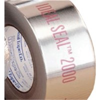 Foil Tape                                                                       Ideal Seal   2000 Aluminum Foil Tape                                             - Performance grade aluminum foil tape                                            coated with an acrylic adhesive system                                        - For use as a vapor seal and to ensure                                           the integrity of seams and joints of fiberglass                               duct board and flexible duct systems                                            - Thickness: 4.3 mils                                                           - Tensile strength: 25 lbs/in                                                   - Silver                                                                        - Meets UL181 A-P and                                                             UL 181 B-FX standards