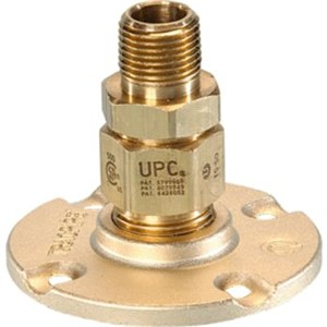 AutoFlare   Fittings & Accessories                                               AutoFlare   Flange Fitting (MPT)                                                 - Stainless steel and yellow brass                                              - Operating pressure: 25 psig                                                   - Operating temperature range:                                                    -20   to 200  F                                                                 - CSA Certified                                                                 - ANSI and IAPMO Listed